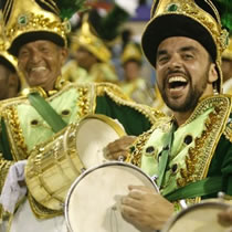 Samba Players at Rio's Carnival
