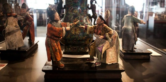 Chinese Painted Carvings