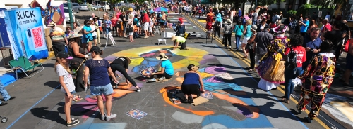Chalk Drawing at Festa