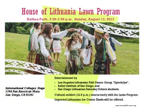 House of Lithuania Lawn Program
