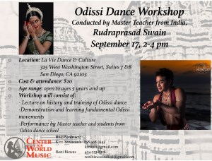 Odissi Dance Workshop