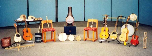 Instruments for the Musicàntica group