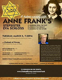 An Evening with Anne Frank's Stepsister